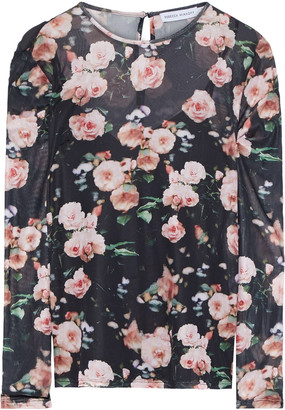 Rebecca Minkoff Cyder Floral-print Stretch-mesh Top