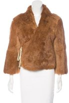 Les Prairies de Paris Fur Button-Up Jacket