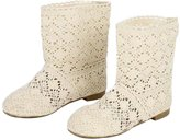 Donalworld Lady Hollow Out Shoes Openwork Lace Crochet Boot