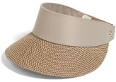 Eric Javits Women's 'Squishee Champ' Custom Fit Visor - Beige