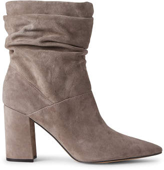 Nine West Light Grey Cames Slouchy Suede Ankle Booties