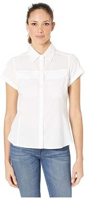 Columbia Silver Ridgetm Lite Short Sleeve Shirt (White) Women's Clothing