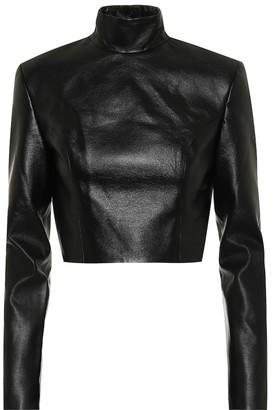 MATÉRIEL Faux-leather crop top