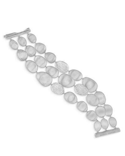 Marco Bicego Lunaria Diamond Multi-Row Bracelet in 18K White Gold