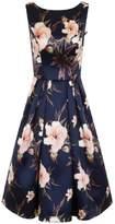 *Chi Chi London Navy Floral Print Midi Dress