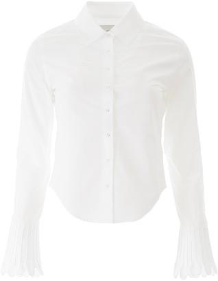 Coperni Scallop Cuff Detail Shirt