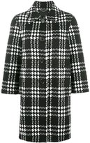 Marc Jacobs check jacquard buttoned coat - women - Silk/Nylon/Polyester/Spandex/Elastane - 8