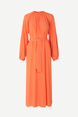 Samsoe & Samsoe Kaia long dress , Bright Coral - s/36 | viscose | coral - Coral