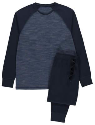 George Navy Raglan Long Sleeve Pyjamas