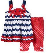 Nannette Baby Girl Crab Applique Tank Top & Leggings Set
