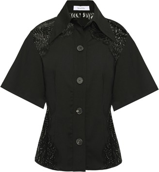 Beaufille Lace-paneled Woven Shirt