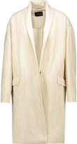 Isabel Marant Manteau ribbed linen and wool-blend twill coat