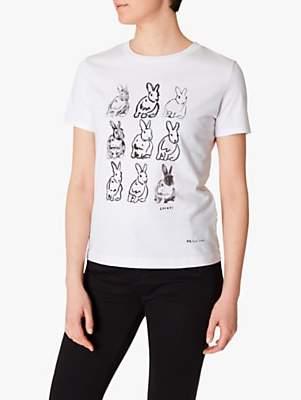 Paul Smith Rabbit Print T-Shirt, White