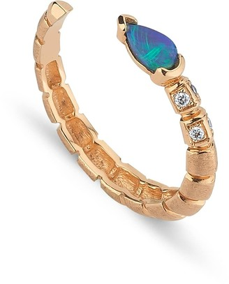Selda Jewellery Dragon Opal Open Ring