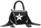 SALAR Women's Mimi Fringe Bag Nero