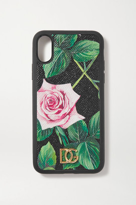 Dolce & Gabbana Floral-print Textured-leather Iphone X And Xs Case - Pink