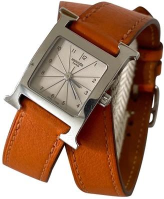 Hermã ̈S HermAs Heure H Orange Steel Watches
