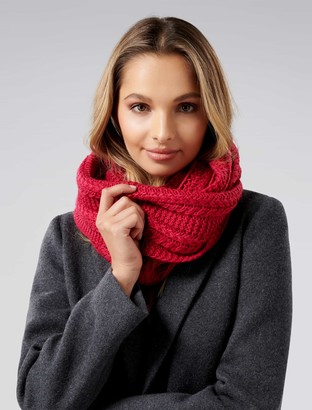 Forever New Tara Cable Knit Snood - Magenta - 00