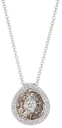Plevé Aura 18K White Gold & Diamond Pear Pendant Necklace