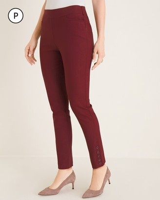 So Slimming Petite Brigitte Button-Hem Slim Ankle Pants