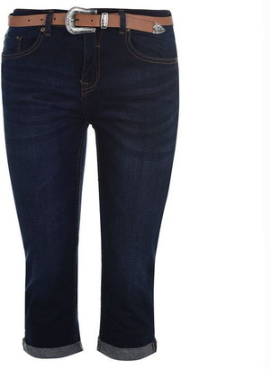 Soul Cal SoulCal Belted Cropped Jeans Ladies