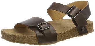 Haflinger Unisex Adults' Andy Ankle Strap Sandals, Brown (Dunkelbraun 748)