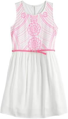 So Girls 7-16 & Plus Size SO Belted Skater Dress