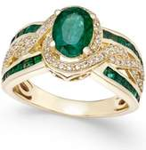 Macy's Emerald (2-1/4 ct. t.w.) and Diamond (1/3 ct. t.w.) Statement Ring in 14k Gold