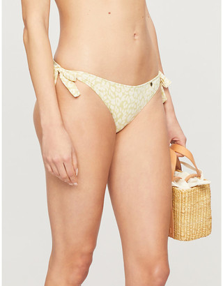 LOVE Stories Zoey leopard-print high-rise bikini bottoms