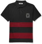 Mcq Alexander Mcqueen - Striped Cotton-piqué Polo Shirt