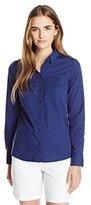 Lacoste Women's Long Sleeve Cotton Stretch Poplin Slim Fit Shirt