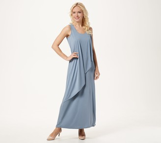 Lisa Rinna Collection Sleeveless Double Layer Maxi Dress