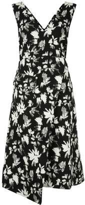 GOEN.J crinkled flower wrap dress