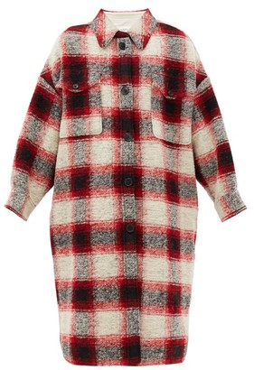 Etoile Isabel Marant Gabrion Single-breasted Checked Wool-blend Coat - Red Multi