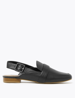 Marks and Spencer Leather Slingback Loafers