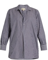 Nili Lotan Ambrose striped cotton shirt