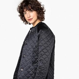 Long Light Collarless Padded Jacket