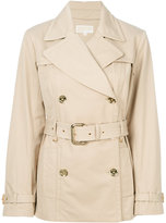 MICHAEL Michael Kors belted trench coat - women - Cotton/Polyester/Spandex/Elastane - XS