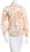 Matthew Williamson Printed Button-Up Top