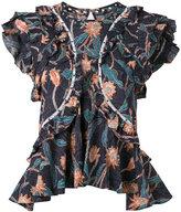 Isabel Marant Unice ruffled blouse - women - Cotton - 40