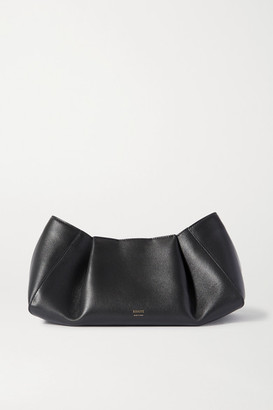 KHAITE Jeanne Small Leather Clutch - Black