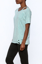 Mono B Blue Distressed Tee