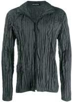 Issey Miyake Men crushed plisse lightweight jacket