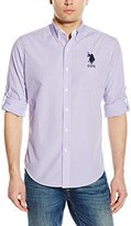 U.S. Polo Assn. Men's Long Sleeve Gingham Plaid Sport Shirt