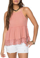 O'Neill Kylie Crochet Scalloped-Hem Tank Top