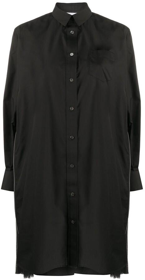 Sacai side pleat shirt dress