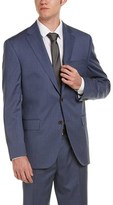 David Donahue Ryan Classic Fit Wool Suit With Flat Pant.