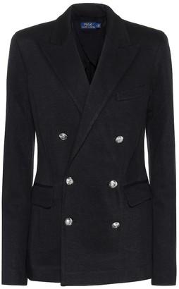 Polo Ralph Lauren Cotton-blend knit blazer