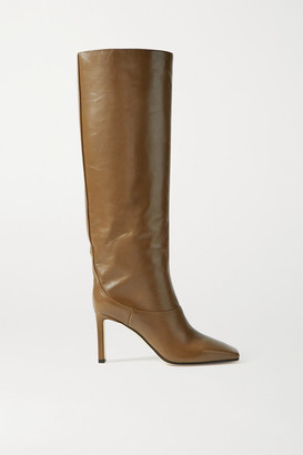 Jimmy Choo Mahesa 85 Leather Knee Boots - Brown