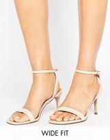 Asos HIDEAWAY Wide Fit Heeled Sandals